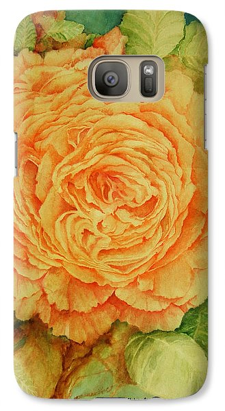 Galaxy Case featuring the painting Summer Rose by Rachel Lowry