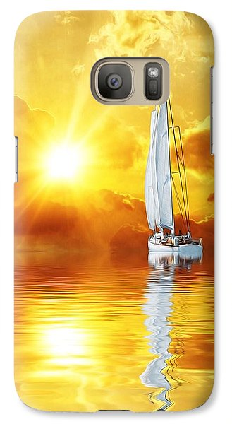 Galaxy Case featuring the mixed media Summer Sun And Fun by Gabriella Weninger - David
