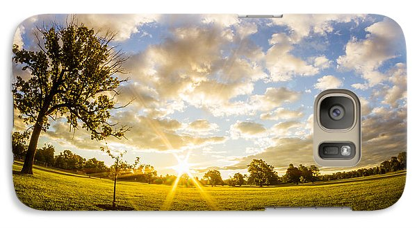 Galaxy Case featuring the photograph Summer Sunrise Across Delware Park Meadow by Chris Bordeleau