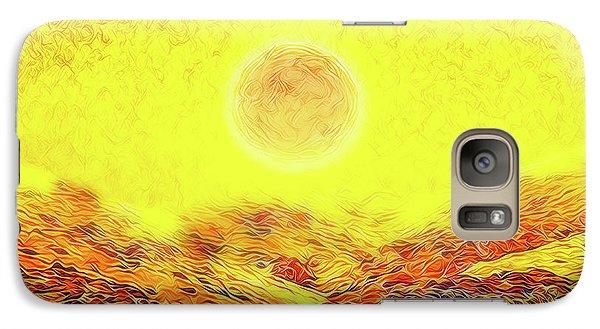 Galaxy Case featuring the digital art Summer Sunset Field - Trail In Marin California by Joel Bruce Wallach
