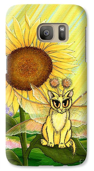 Galaxy Case featuring the painting Summer Sunshine Fairy Cat by Carrie Hawks