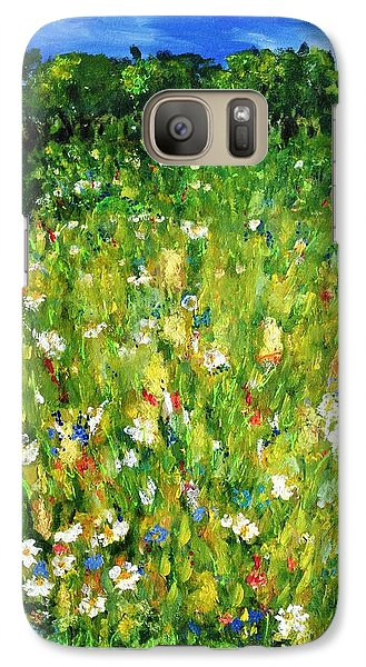 Galaxy Case featuring the painting The Glade by Evelina Popilian