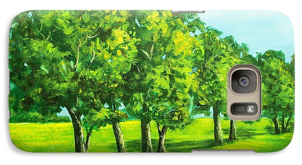 Galaxy Case featuring the painting Summer Trees by Bozena Zajaczkowska
