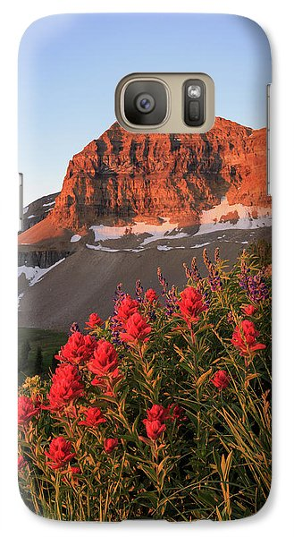 Galaxy Case featuring the photograph Summer Wildflowers On Timpanogos. by Johnny Adolphson