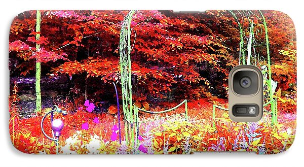 Galaxy Case featuring the photograph Summerhouse Arch by Susan Carella