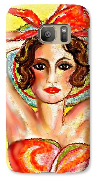 Galaxy Case featuring the mixed media Summer's Glo by Desline Vitto