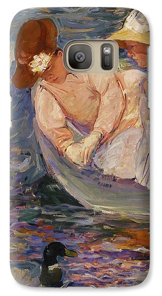 Galaxy Case featuring the painting Summertime By Mary Cassatt 1894 by Movie Poster Prints
