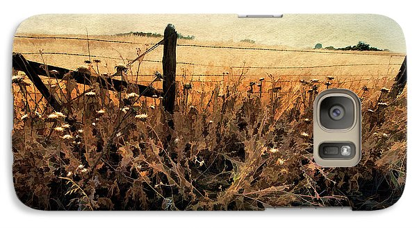Galaxy Case featuring the photograph Summertime Country Fence by Steve Siri
