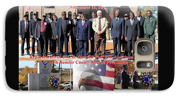 Galaxy Case featuring the photograph Sumter County Memorial Of Honor by Jerry Battle
