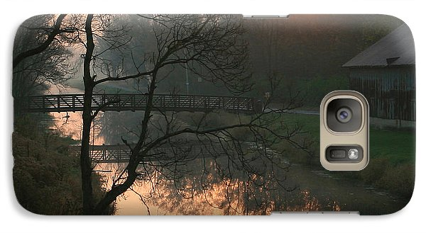 Galaxy Case featuring the photograph Sun Above The Trees by Paula Guttilla