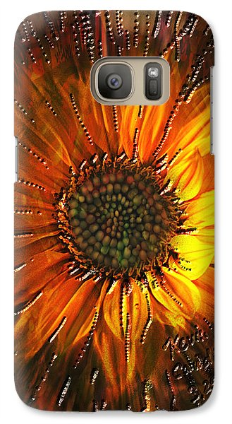 Galaxy Case featuring the painting Sun Burst by Kevin Caudill