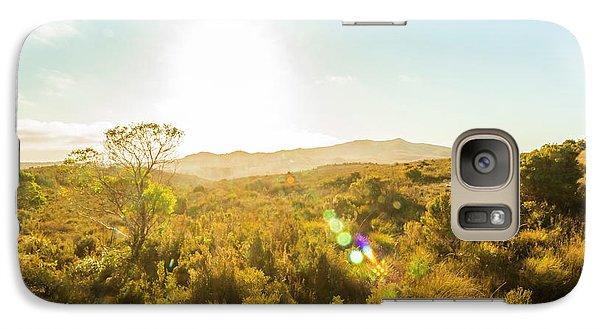 Pasture Galaxy S7 Case - Sun Flare Prairie  by Jorgo Photography - Wall Art Gallery
