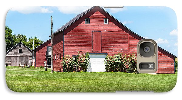 Galaxy Case featuring the photograph Sun Flower Barn by Edward Peterson