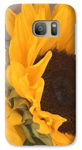 Galaxy Case featuring the digital art Sun Flower by Jana Russon