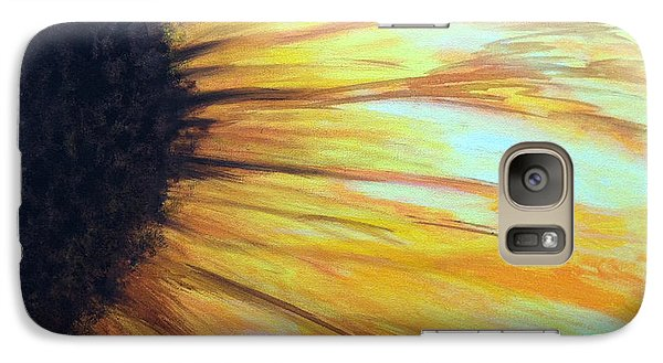 Galaxy Case featuring the painting Sun Flower by Sheron Petrie
