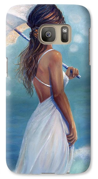 Galaxy Case featuring the painting Sun Kissed by Michael Rock