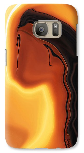 Galaxy Case featuring the digital art Sun-kissed by Rabi Khan