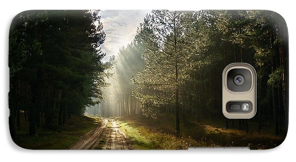 Galaxy Case featuring the photograph Sun Light At Pine Forest by Dmytro Korol