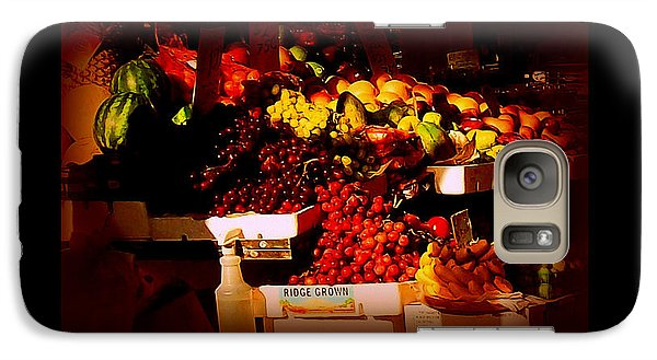Galaxy Case featuring the photograph Sun On Fruit - Markets And Street Vendors Of New York City by Miriam Danar