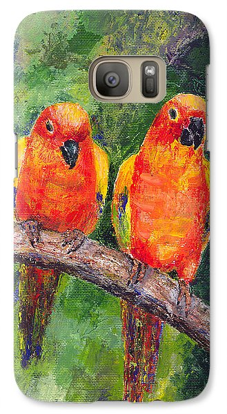 Sun Parakeets Galaxy S7 Case by Arline Wagner