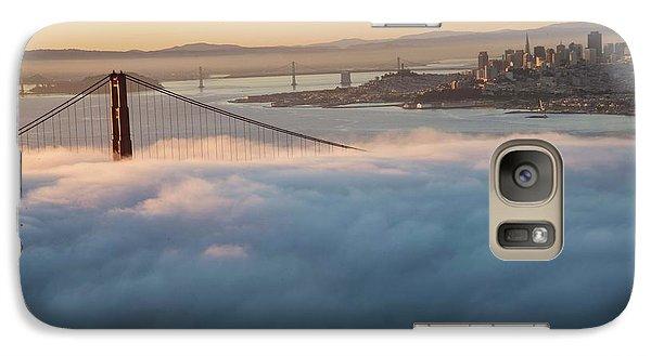Galaxy Case featuring the photograph Sun Rise At Golden Gate Bridge by David Bearden