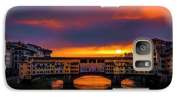 Galaxy Case featuring the photograph Sun Rises Over The Ponte Vecchio by Andrew Soundarajan