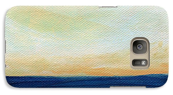 Sun Swept Coast- Abstract Seascape Galaxy Case by Linda Woods