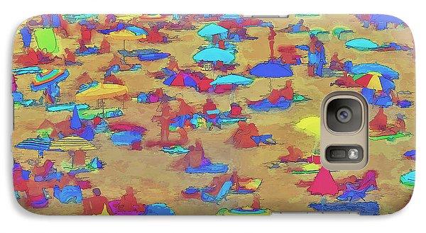 Galaxy Case featuring the digital art Sun Umbrellas by Pedro L Gili