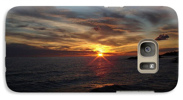 Galaxy Case featuring the photograph Sun Up by Bonfire Photography