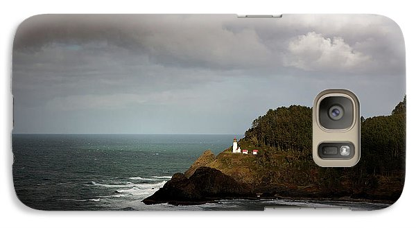 Galaxy Case featuring the photograph Sunbeam On The Lighthouse by Mary Jo Allen