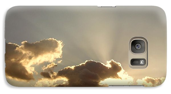 Galaxy Case featuring the photograph Trumpeting Triumphantly Sunrise by Deborah Moen
