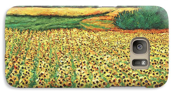 Sunflower Galaxy S7 Case - Sunburst by Johnathan Harris