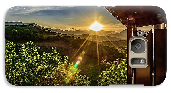 Sunburst View From Dellas Boutique Hotel Near Meteora In Kastraki, Kalambaka, Greece Galaxy S7 Case