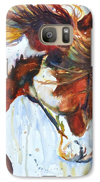 Galaxy Case featuring the painting Sundance by P Maure Bausch