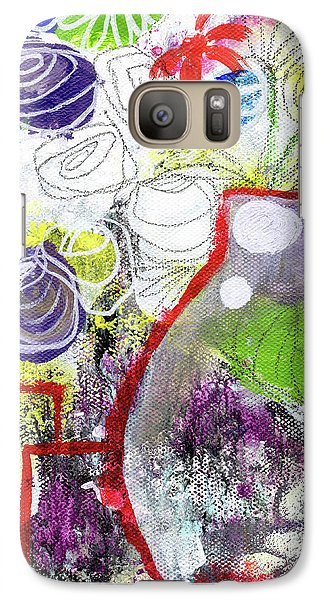 Sunday Market Flowers 3- Art By Linda Woods Galaxy S7 Case by Linda Woods