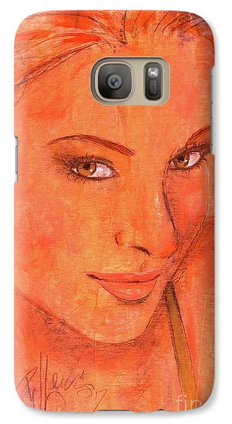 Galaxy Case featuring the painting Sunday by P J Lewis