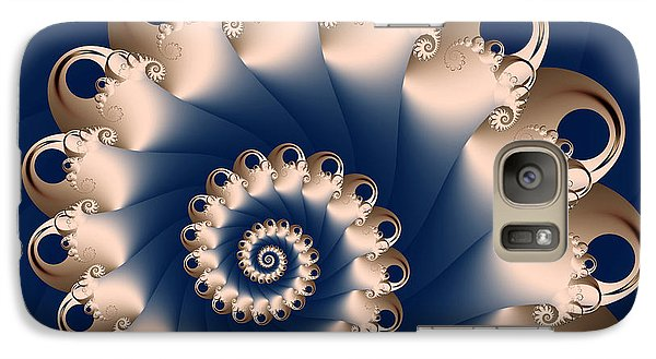 Galaxy Case featuring the digital art Sunday Spiral by Karin Kuhlmann