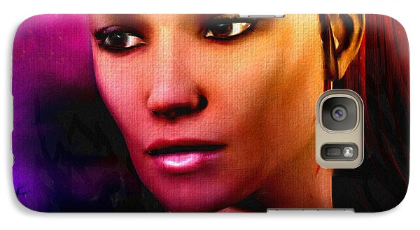 Galaxy Case featuring the painting Sundown Becomes Her by Tyler Robbins