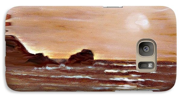 Galaxy Case featuring the painting Sundown Glow by Desline Vitto