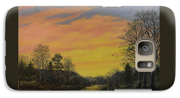Galaxy Case featuring the painting Sundown Glow by Kathleen McDermott