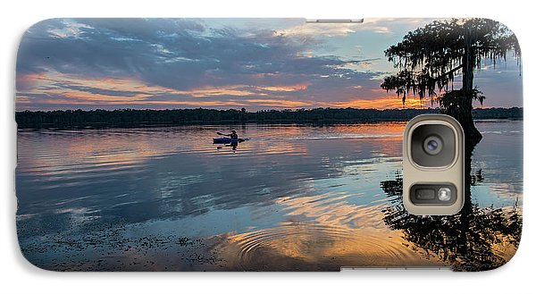 Galaxy Case featuring the photograph Sundown Kayaking At Lake Martin Louisiana by Bonnie Barry