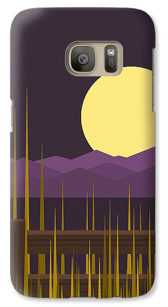 Galaxy Case featuring the digital art Sundown - Vertical by Val Arie