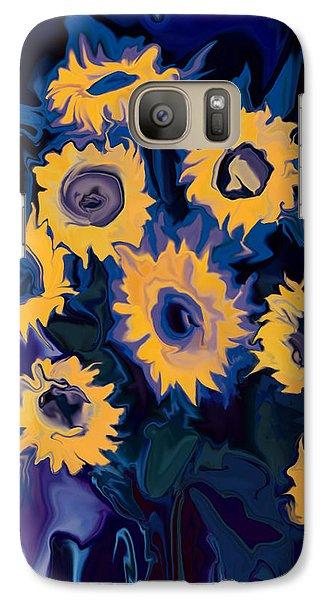 Galaxy Case featuring the digital art Sunflower 1 by Rabi Khan