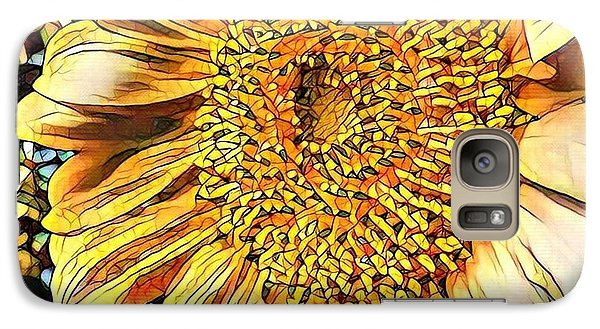 Galaxy Case featuring the photograph Sunflower In The Alley by Diane Miller