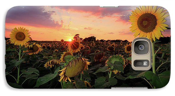 Galaxy Case featuring the photograph Sunflower Field 2  by Emmanuel Panagiotakis