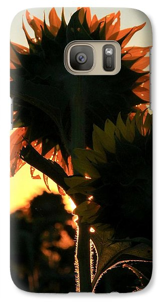 Galaxy Case featuring the photograph Sunflower Greeting  by Chris Berry