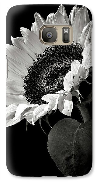 Sunflower Galaxy S7 Case - Sunflower In Black And White by Endre Balogh