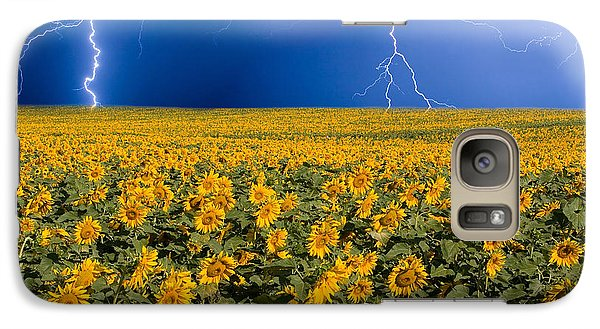 Sunflower Galaxy S7 Case - Sunflower Lightning Field  by James BO Insogna