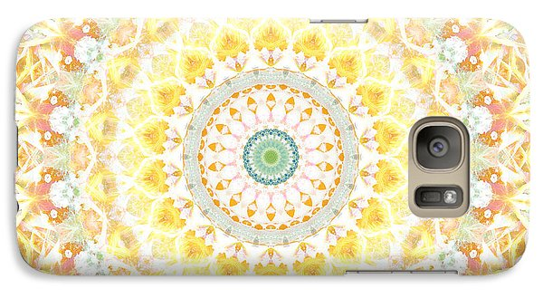Sunflower Galaxy S7 Case - Sunflower Mandala- Abstract Art By Linda Woods by Linda Woods