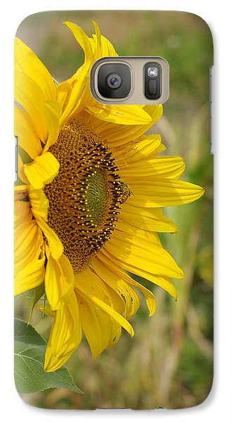 Galaxy Case featuring the photograph Sunflower Show Off by Linda Mishler